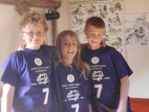 Her er vores FLL team